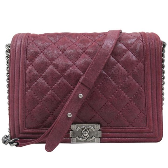 CHANEL Handbags - Chanel large Boy brick red leather shoulder bag